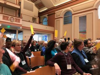Diocesan Convention 2017 voting