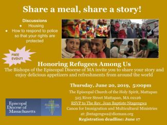 June 20 Refugee Day event flier image