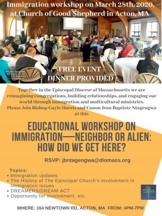 March 2020 Immigration Workshop Flier