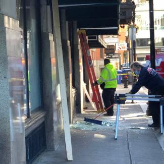 Temple Street, Boston clean-up after May 31 protest damage
