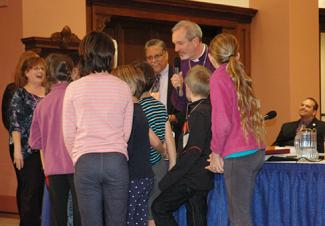 Gates with children Diocesan Convention 2015