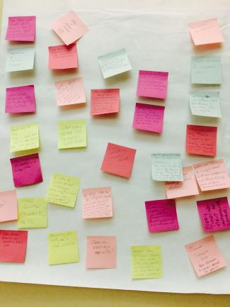 Mission strategy post-its