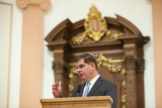 Mayor Walsh at rededication
