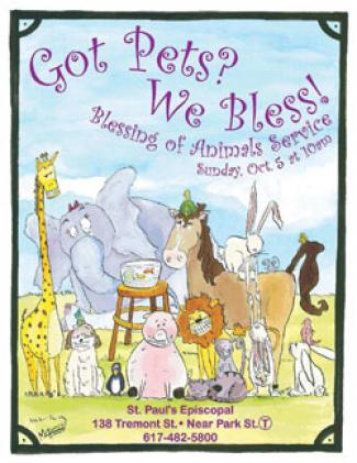 Blessing of the Animals poster for the Cathedral