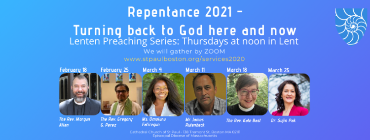 Cathedral Church of St. Paul 2021 Lenten Preaching series graphic
