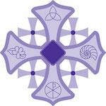 Bishop's blog icon - purple cross