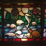 Waters of Baptism stained glass