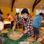 Charles River Deanery youth become Thanksgiving piemakers