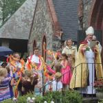 Bishop Gates dedicates new parish house at Trinity, Concord
