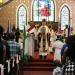bishop in church