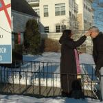 Episcopal churches take Ash Wednesday invitation to the streets